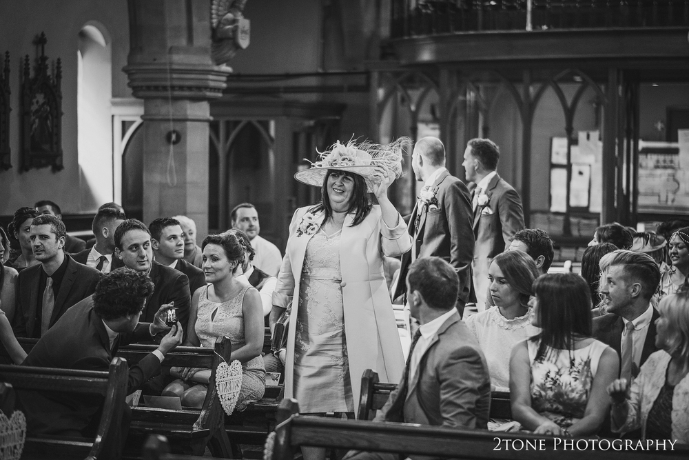 Brides mother arriving to church www.2tonephotography.co.uk