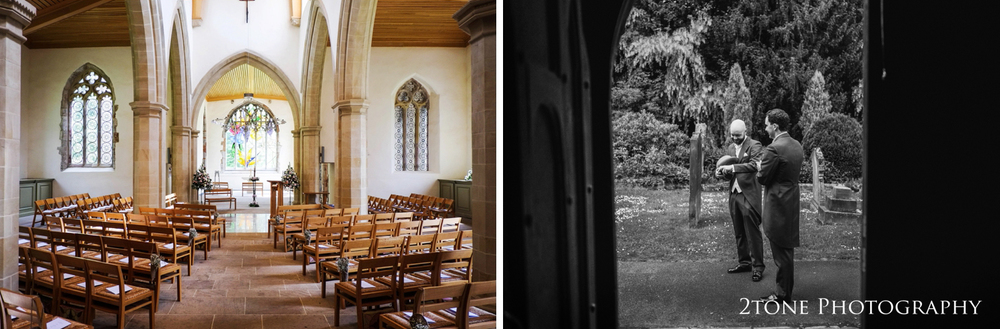 The wedding ceremony took place in St Brandon's Church in Brancepeth, a few miles from Durham.