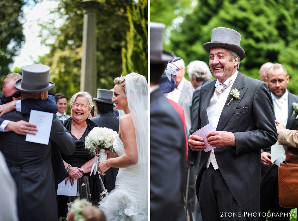 Happy faces all around celebrate as they welcome the new Mr and Mrs Baker.