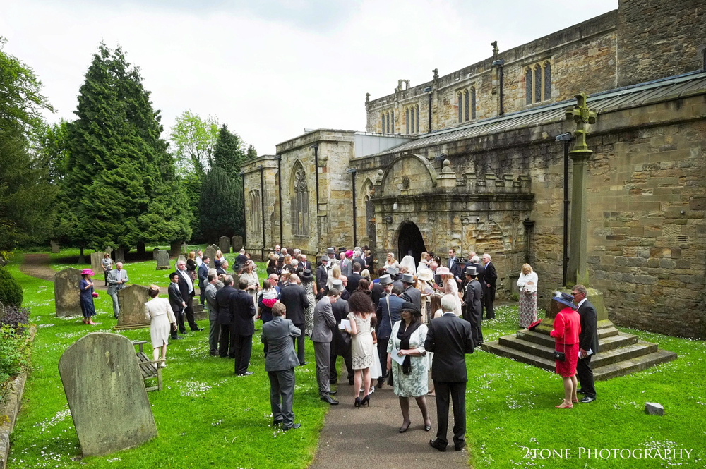 St Brandon's church, Brancepeth, Durham.  Wedding photography by www.2tonephotography.co.uk