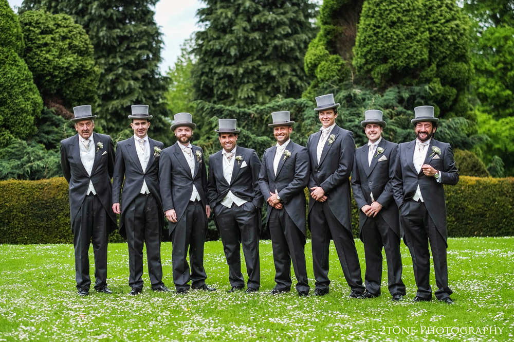 Groomsmen at Middleton Lodge.  Wedding photography by www.2tonephotography.co.uk