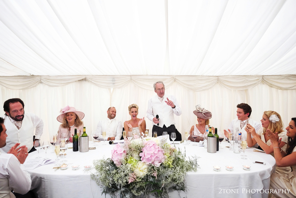 Wedding speeches at Middleton Lodge.  Wedding photography by www.2tonephotography.co.uk