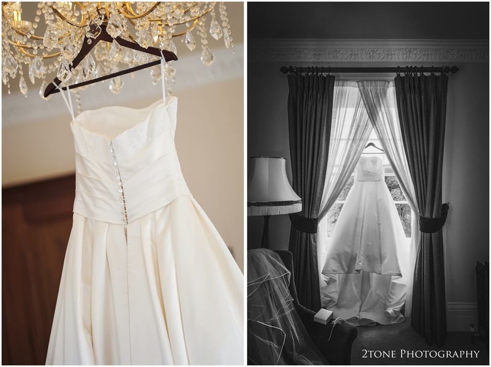 Starting the day with Kristen in the beautiful double aspect bridal suite, I set to work photographing her stunning gown and shoes.