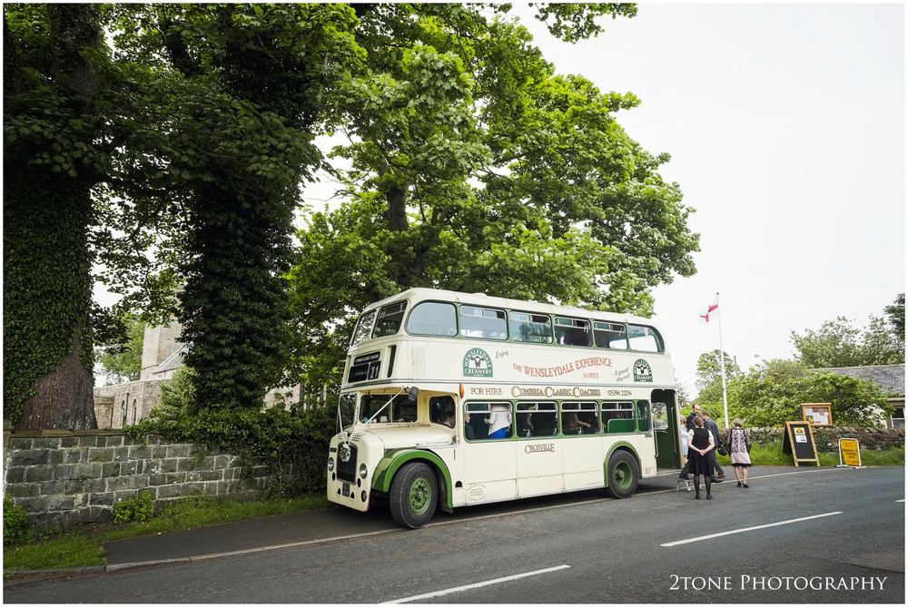 Kristen and Innes booked three vintage busses to transport all of their wedding guests to each location and they were quite probably the best vintage busses we have seen at a wedding.  Supplied by Cumbria Classic Coaches, they travelled all the way from Kirkby Stephen for the big day.