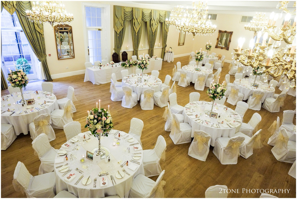 The classic decor colour theme was white and gold.  Fresh and sophisticated and perfectly in tune with the interior design of the room.
