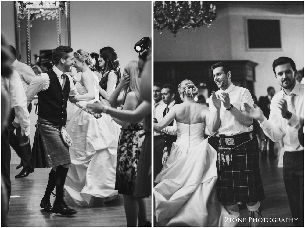 The ceilidh gets the whole room up and dancing.