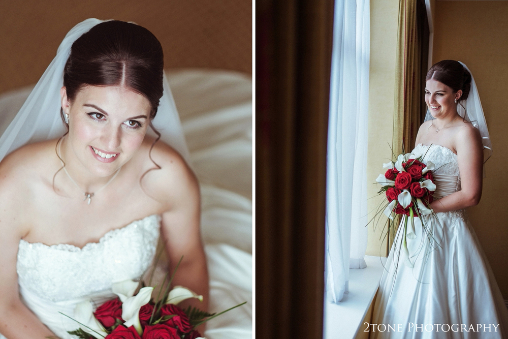Hannah looks gorgeous in her classic a-line wedding gown from Whitley Bay based bridal boutique Truly Madly Deeply.