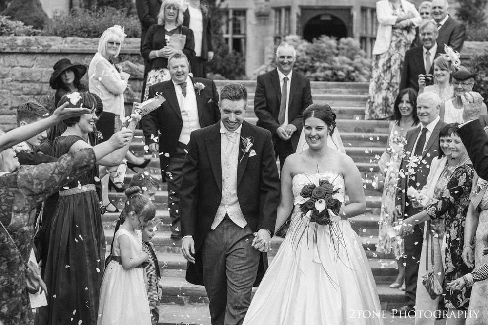 Wedding confetti.  Wedding photography at Slaley Hall by durham wedding photographers www.2tonephotography.co.uk
