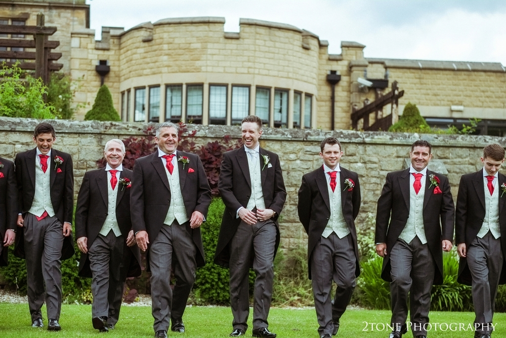 Groomsmen at Slaley Hall.  Wedding photography at Slaley Hall by durham wedding photographers www.2tonephotography.co.uk