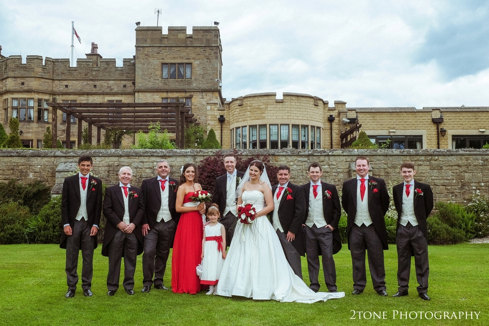 Bridal Party at Slaley Hall.  Wedding photography at Slaley Hall by durham wedding photographers www.2tonephotography.co.uk