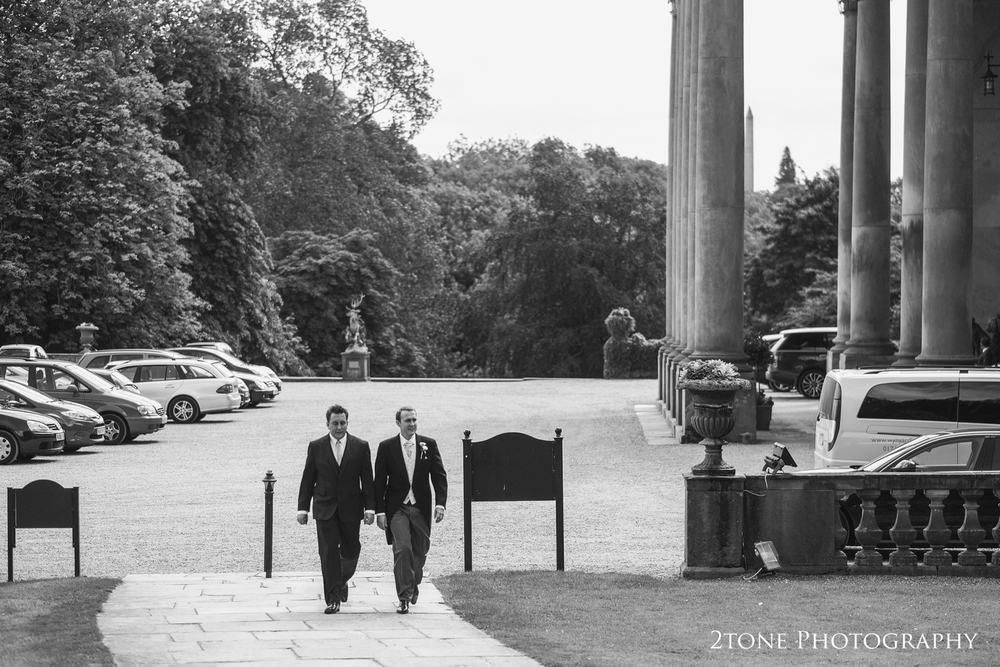 Craig and his best man make their way to the chapel