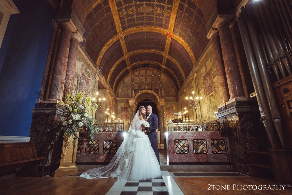 Stunning Wynyard Hall Chapel.  Wedding first dance in Wynyard Hall's conservatory.  Wedding photography by www.2tonephotography.co.uk