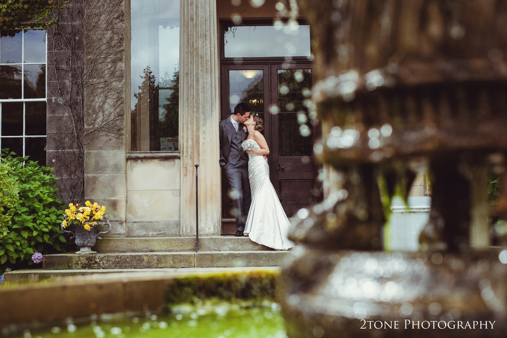 Wedding couple at Doxford Hall in Northumberland.  Wedding Photography by Durham and Newcastle wedding photographers www.2tonephotography.co.uk