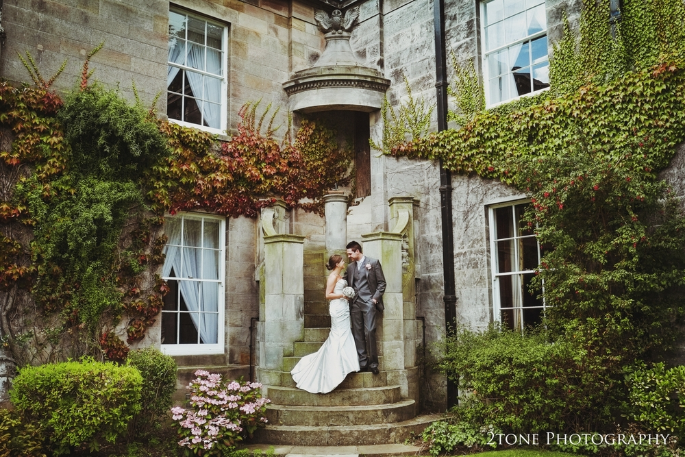 The lovely exterior staircase topped with it  s carved owl was   orchestrated   by Lord Runciman   in the early twentieth century and is a favourite feature of many of our couples that get married at Doxford Hall.