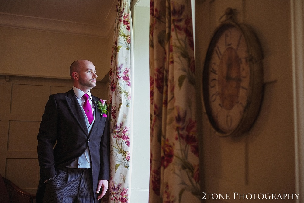 Groom portrait.  Lartington Hall Wedding photography by www.2tonephotography.co.uk