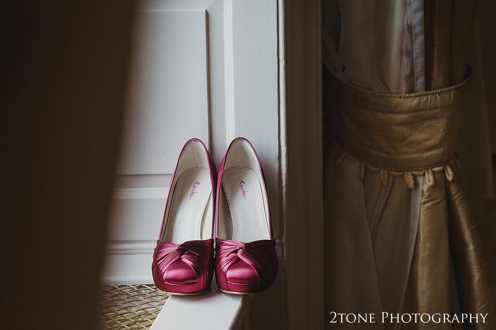 wedding shoes.  Wedding photography newcastle, www.2tonephotography.co.uk
