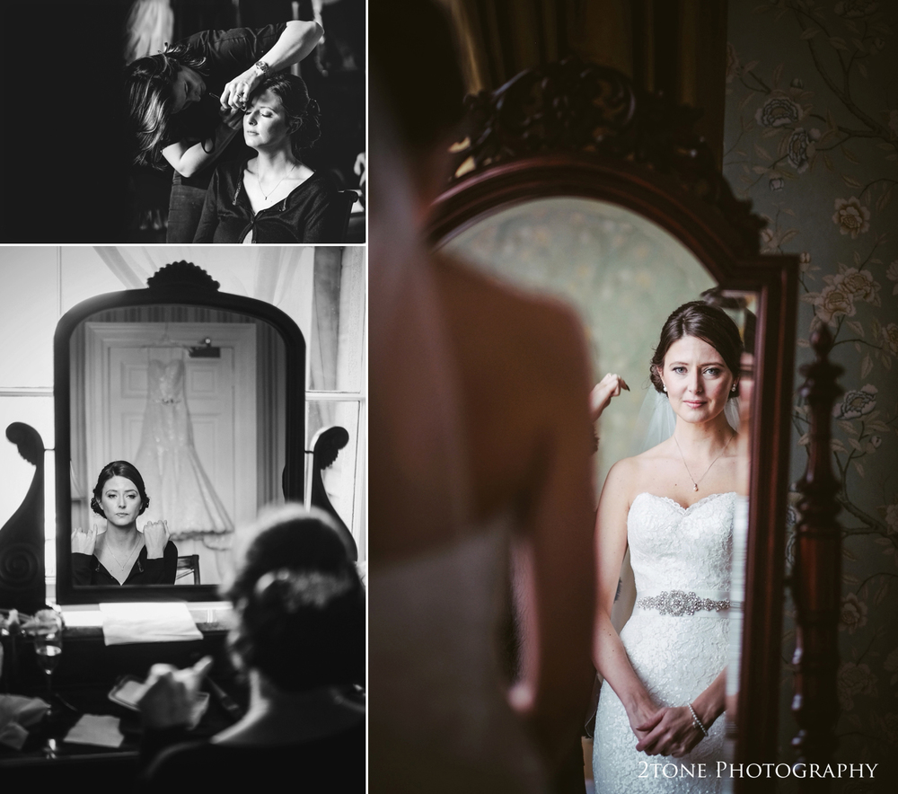 Bridal preparations, Wynyard Hall wedding Photography by durham wedding photographers www.2tonephotography.co.uk
