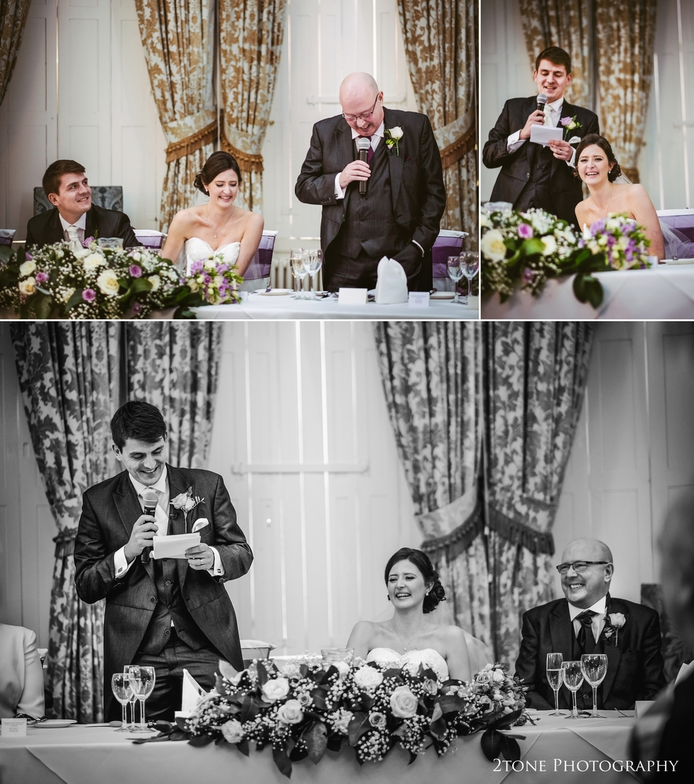 Speeches.  Wynyard Hall wedding Photography by durham wedding photographers www.2tonephotography.co.uk