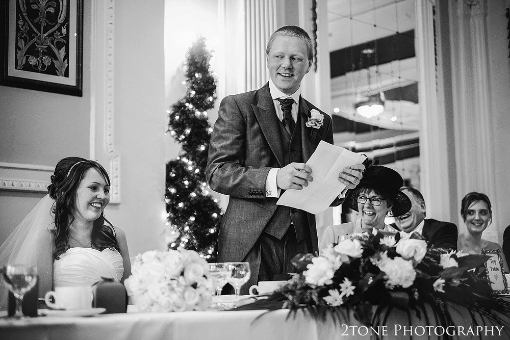 Royal Station Hotel wedding photography by husband and wife wedding photographers www.2tonephotography.co.uk