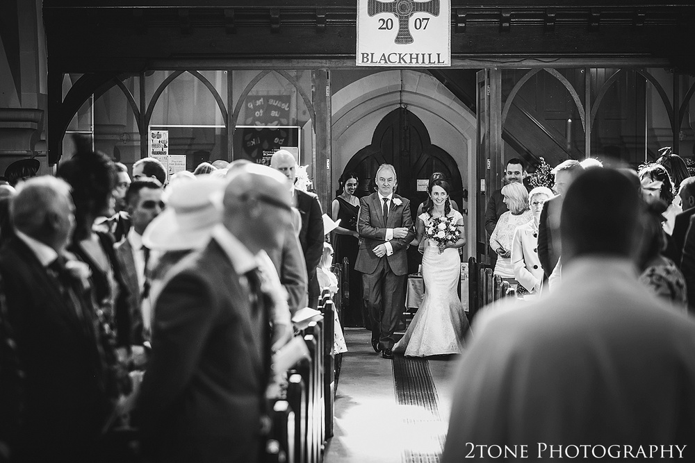 Bridal procession.  Durham Castle wedding Photography by Durham and Newcastle wedding photographer www.2tonephotography.co.uk