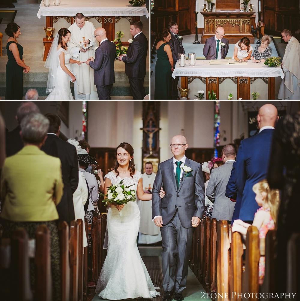 Wedding ceremony in church.  Durham Castle wedding Photography by Durham and Newcastle wedding photographer www.2tonephotography.co.uk