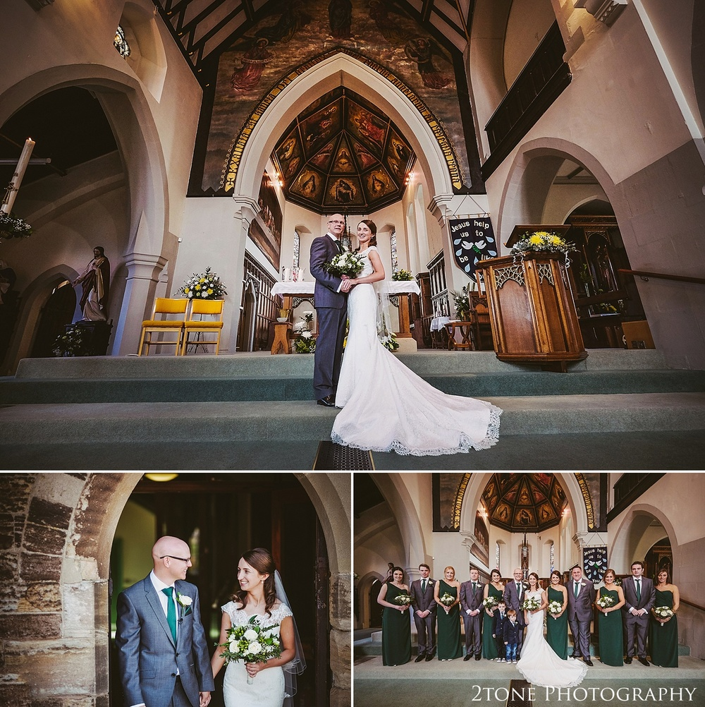 Church group shots.  Durham Castle wedding Photography by Durham and Newcastle wedding photographer www.2tonephotography.co.uk