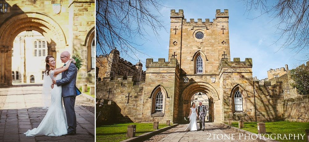 Castle gatehouse.  Durham Castle wedding Photography by Durham and Newcastle wedding photographer www.2tonephotography.co.uk