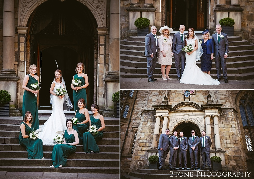 Castle group shots.  Durham Castle wedding Photography by Durham and Newcastle wedding photographer www.2tonephotography.co.uk