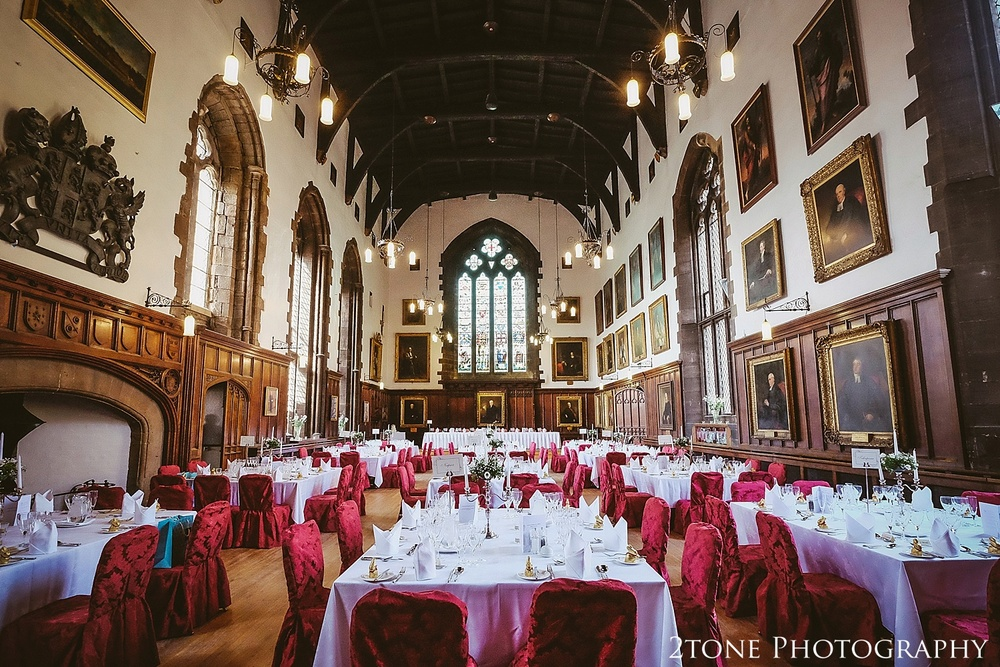 The Great Hall.  Durham Castle wedding Photography by Durham and Newcastle wedding photographer www.2tonephotography.co.uk