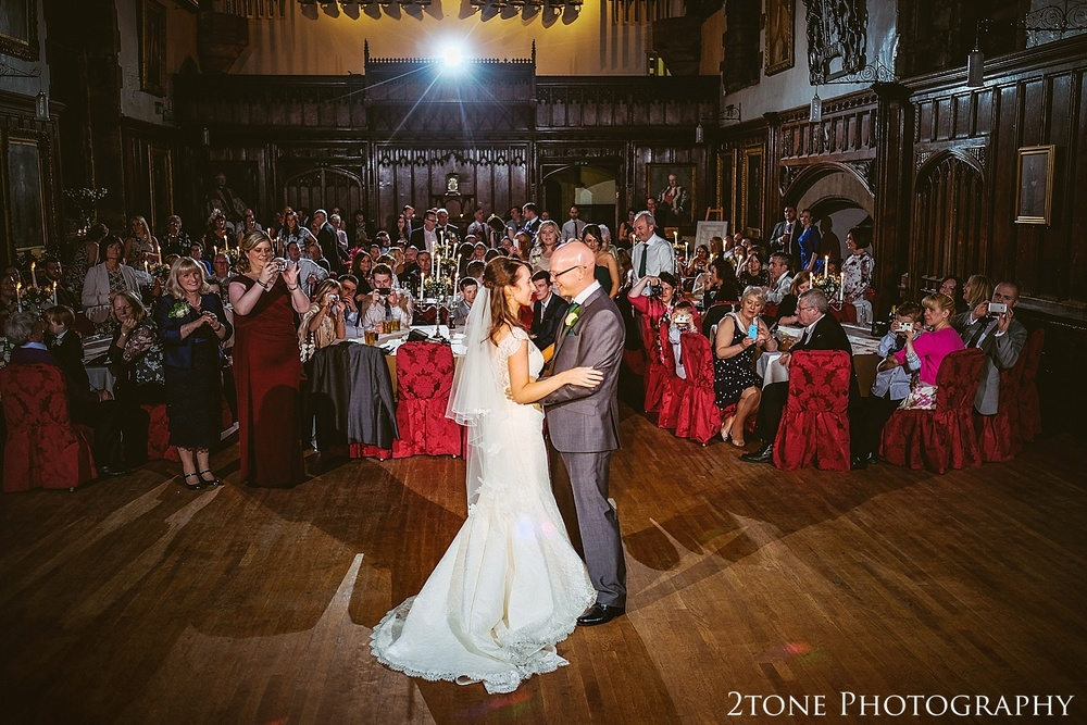 Wedding first dance.  Durham Castle wedding Photography by Durham and Newcastle wedding photographer www.2tonephotography.co.uk
