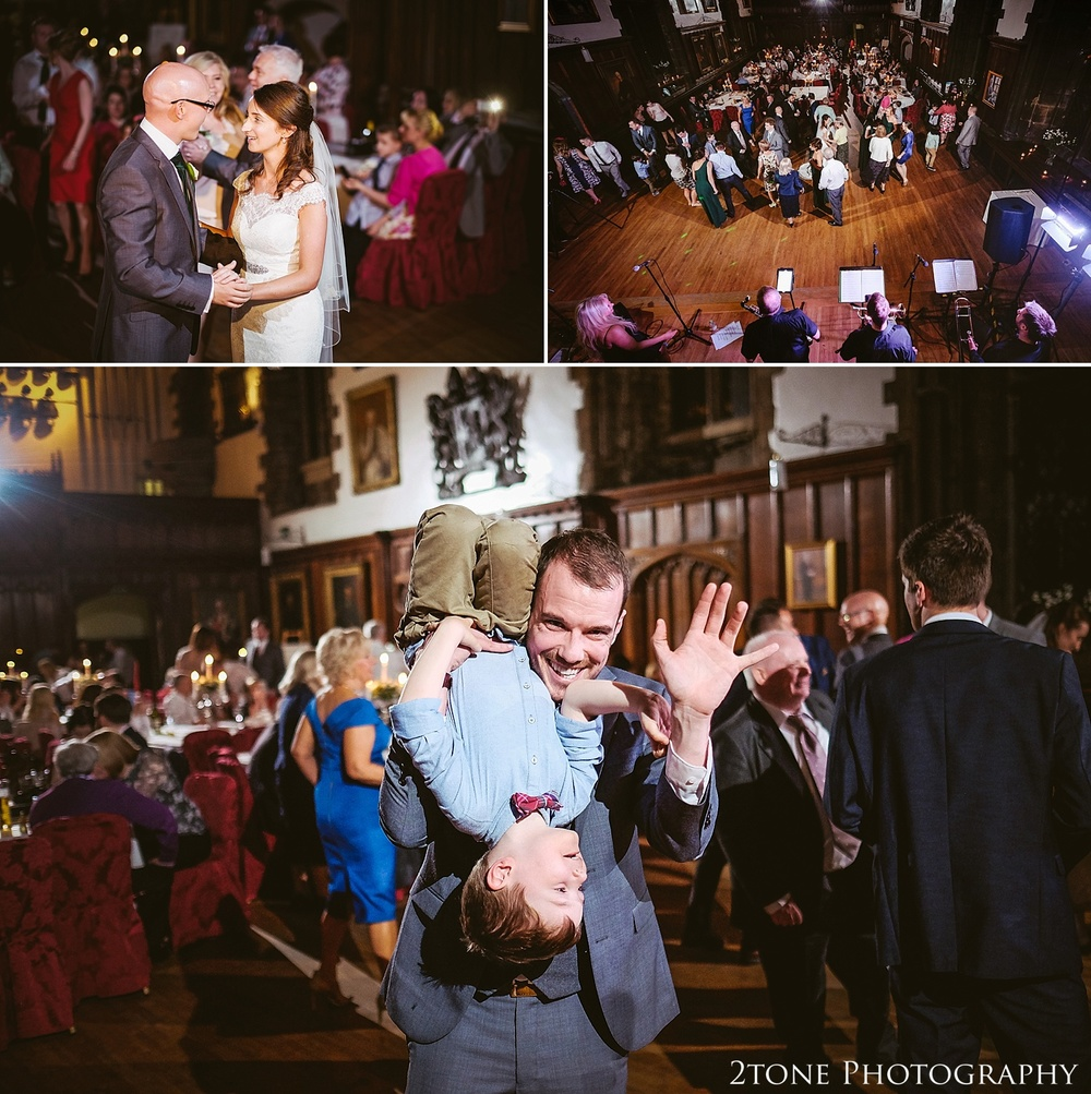 Wedding evening dancing.  Durham Castle wedding Photography by Durham and Newcastle wedding photographer www.2tonephotography.co.uk
