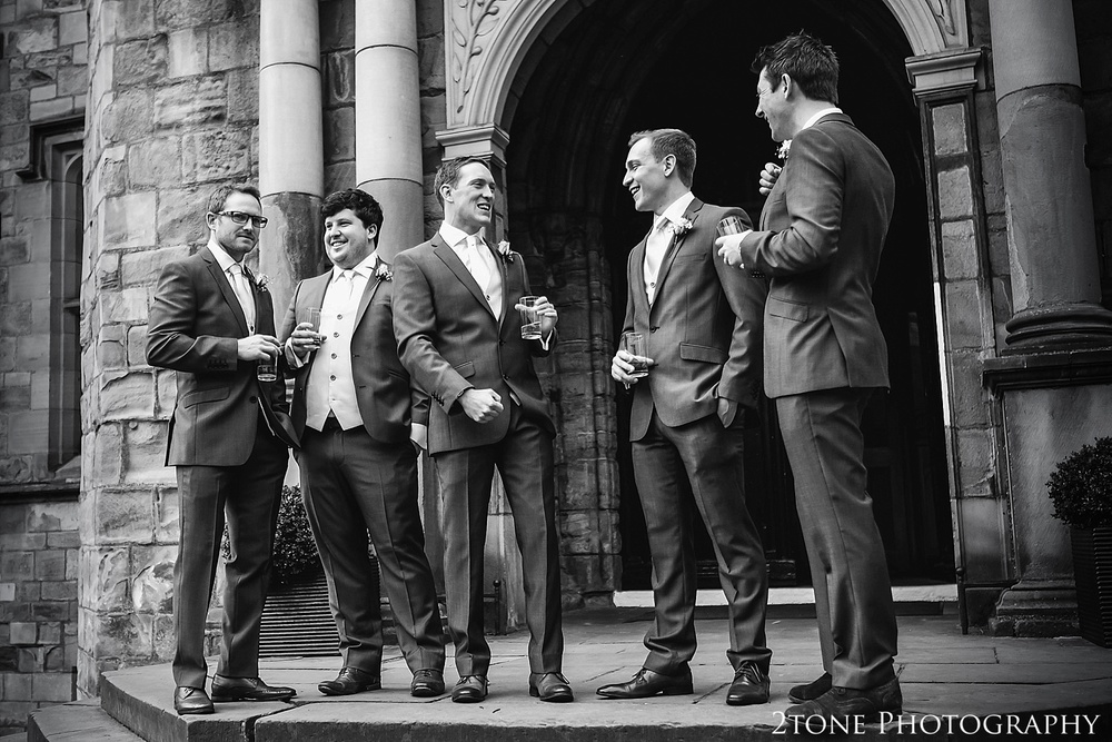 Groomsmen group shots. Durham Wedding Photography by www.2tonephotography.co.uk