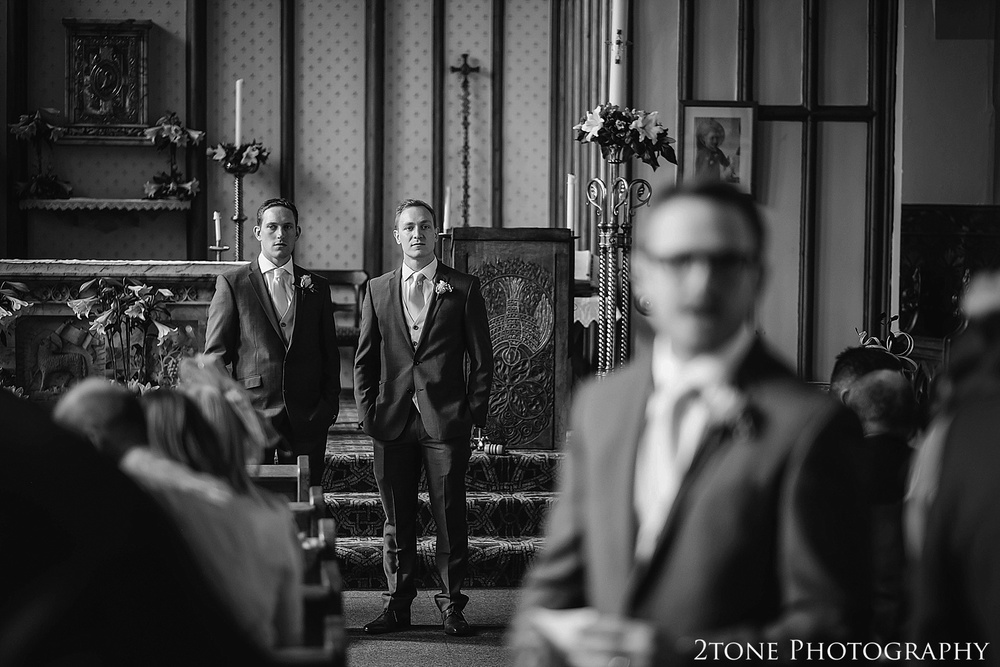 WeddingCeremony at St Cuthbert's Church, Durham.  Durham Wedding Photography by www.2tonephotography.co.uk