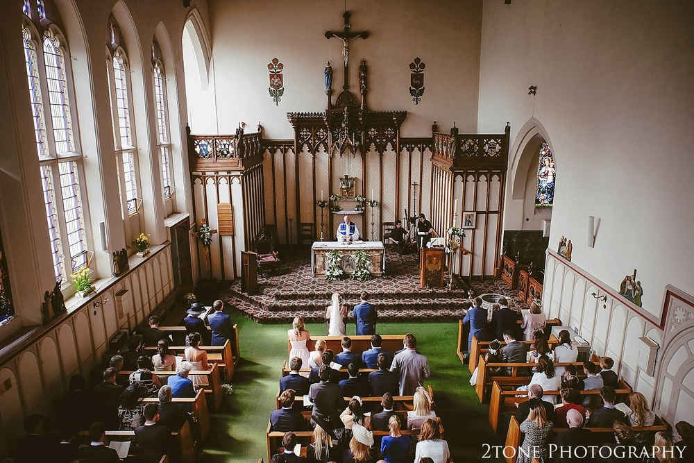 St Cuthbert's Catholic Church, Durham.  Durham wedding photography by wedding photographers www.2tonephotography.co.uk