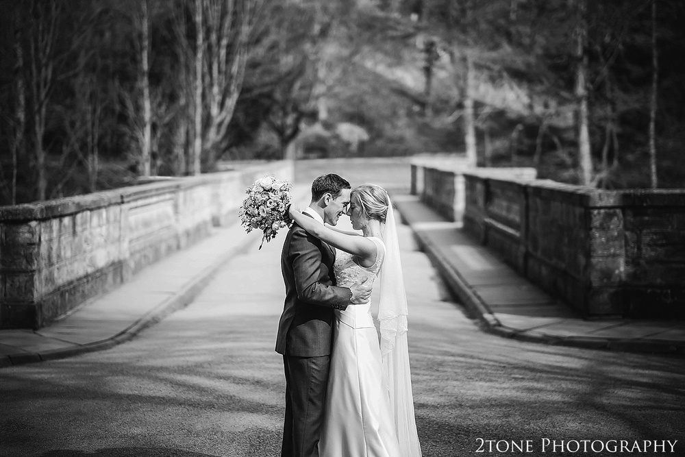Wedding Photographs on Prebends Bridge.  Durham wedding photography by wedding photographers www.2tonephotography.co.uk
