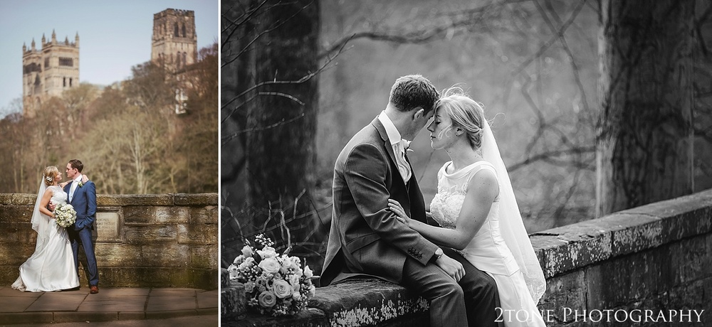 Wedding Photographs in front of Durham Cathedral.  Durham wedding photography by wedding photographers www.2tonephotography.co.uk