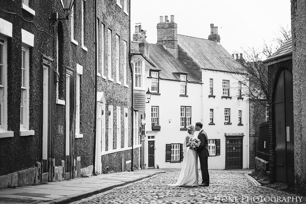 Wedding Photographs on the South Bailey, Durham.  Durham wedding photography by wedding photographers www.2tonephotography.co.uk