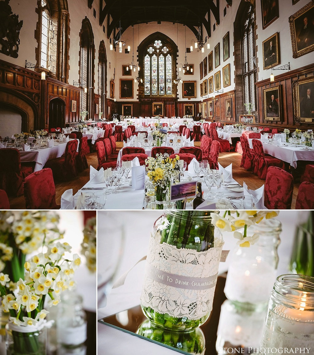 The Great Hall of Durham Castle.  Durham wedding photography by wedding photographers www.2tonephotography.co.uk