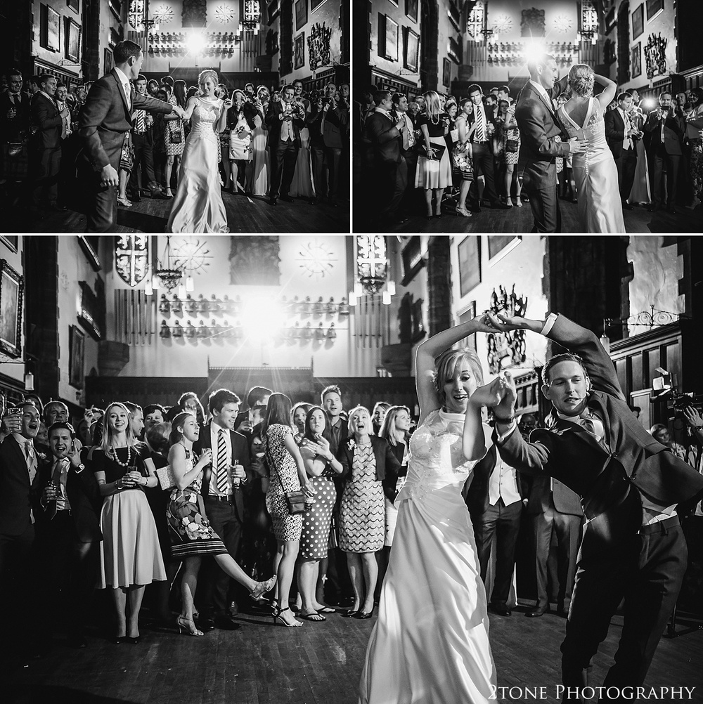 Wedding first dance n Durham Castle.  Durham wedding photography by wedding photographers www.2tonephotography.co.uk