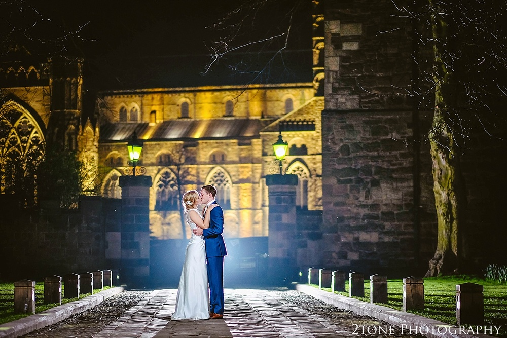 Creative Portrait Wedding Portrait.  Durham Cathedral and Durham Castle.  Durham wedding photography by wedding photographers www.2tonephotography.co.uk