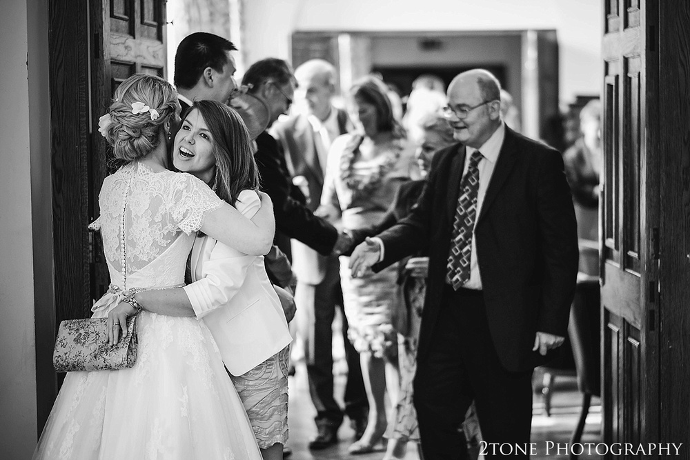 Wedding receiving line at Beamish Hall.  Newcastle and Beamish Hall Wedding Photography by www.2tonephotography.co.uk