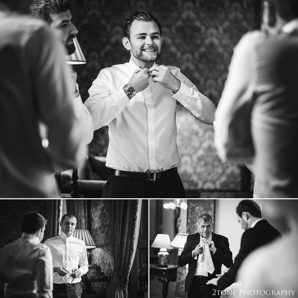 Groom getting ready.  Wynyard Hall wedding photography by www.2tonephotography.co.uk