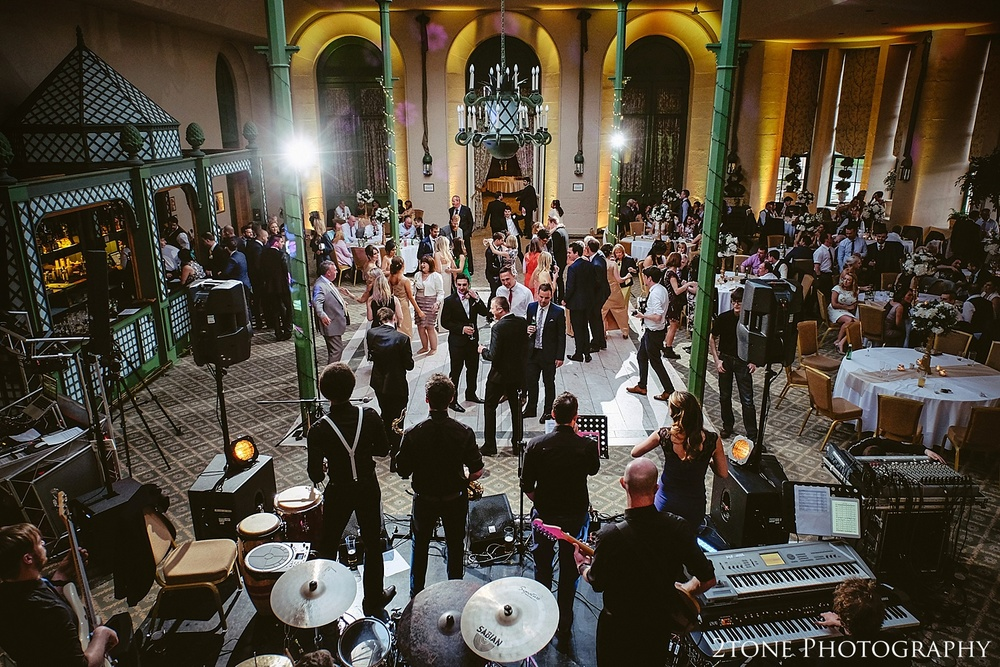 Winter gardens evening reception at Wynyard Hall.  Wynyard Hall wedding photography by www.2tonephotography.co.uk