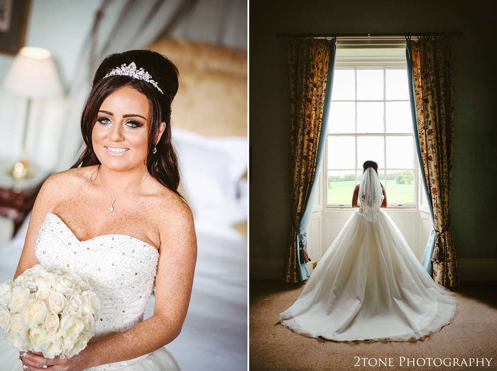 Bridal portraiture at Wynyard Hall by Newcastle and Durham based Wedding Photographer www.2tonephotography.co.uk
