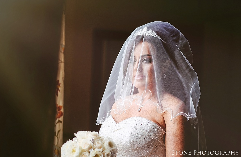 Bride portrait at Wynyard Hall by Newcastle and Durham based Wedding Photographer www.2tonephotography.co.uk