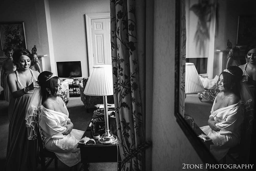 Wedding preparations at Wynyard Hall by Newcastle and Durham based Wedding Photographer www.2tonephotography.co.uk