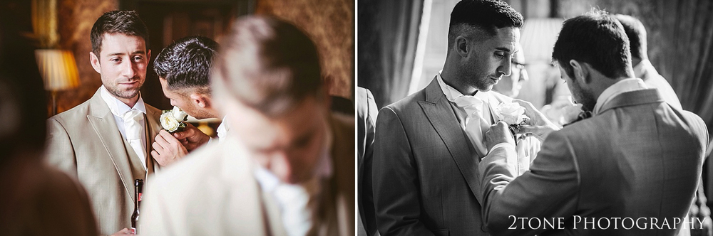 Groom getting ready.  Wynyard Hall by Newcastle and Durham based Wedding Photographer www.2tonephotography.co.uk