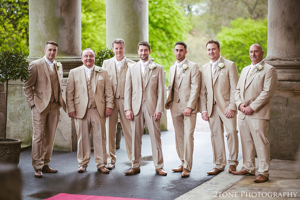 Groom and Groomsmen at Wynyard Hall by Newcastle and Durham based Wedding Photographer www.2tonephotography.co.uk