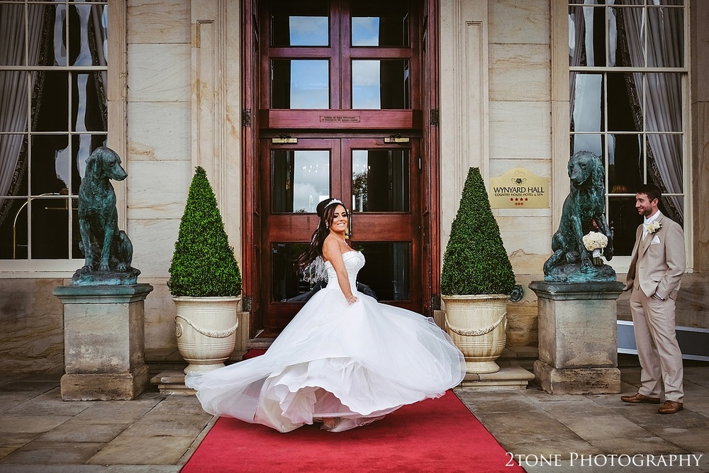Creative bridal portrait at Wynyard Hall by Newcastle and Durham based Wedding Photographer www.2tonephotography.co.uk