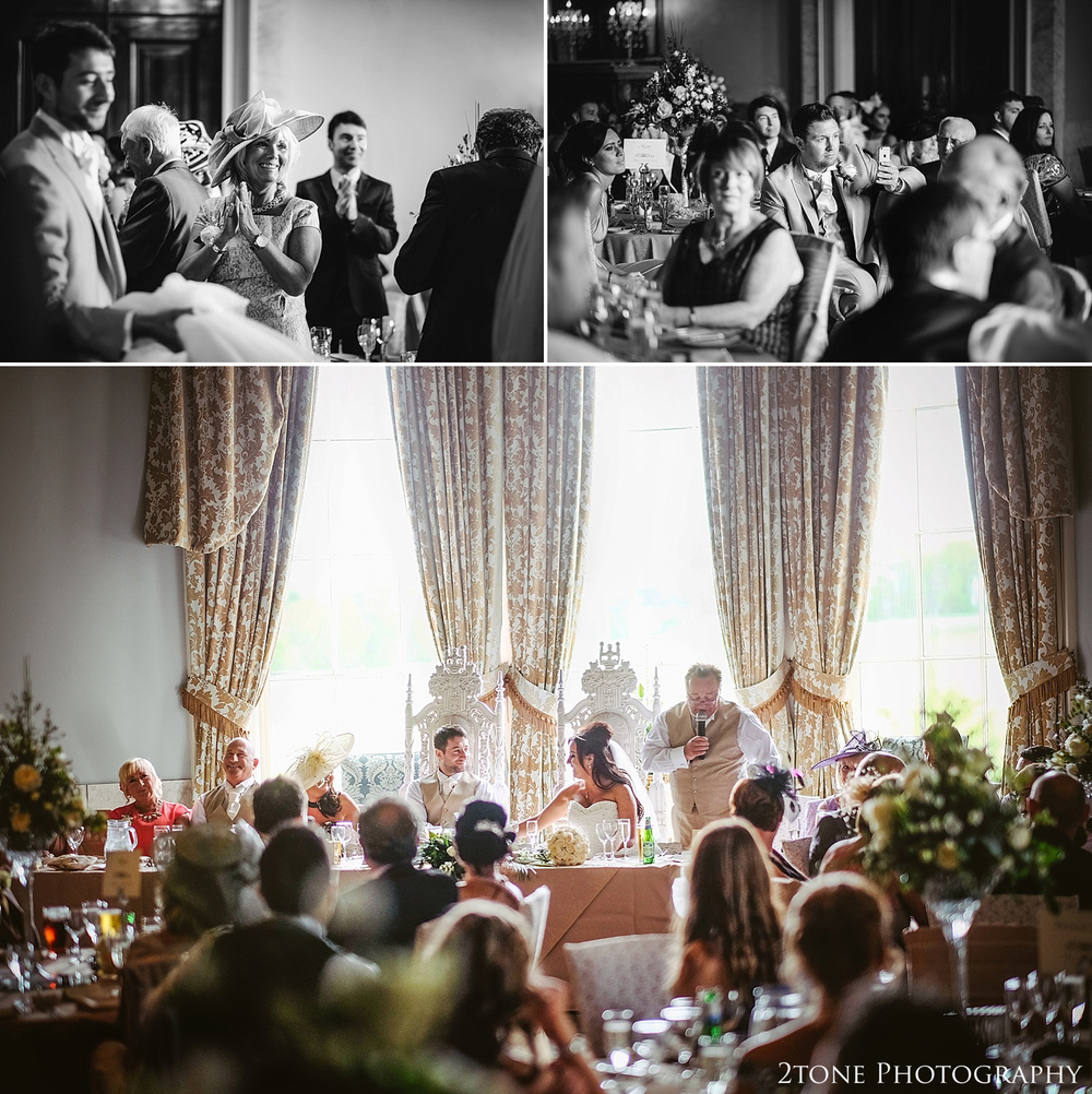 Wedding speeches at Wynyard Hall by Newcastle and Durham based Wedding Photographer www.2tonephotography.co.uk